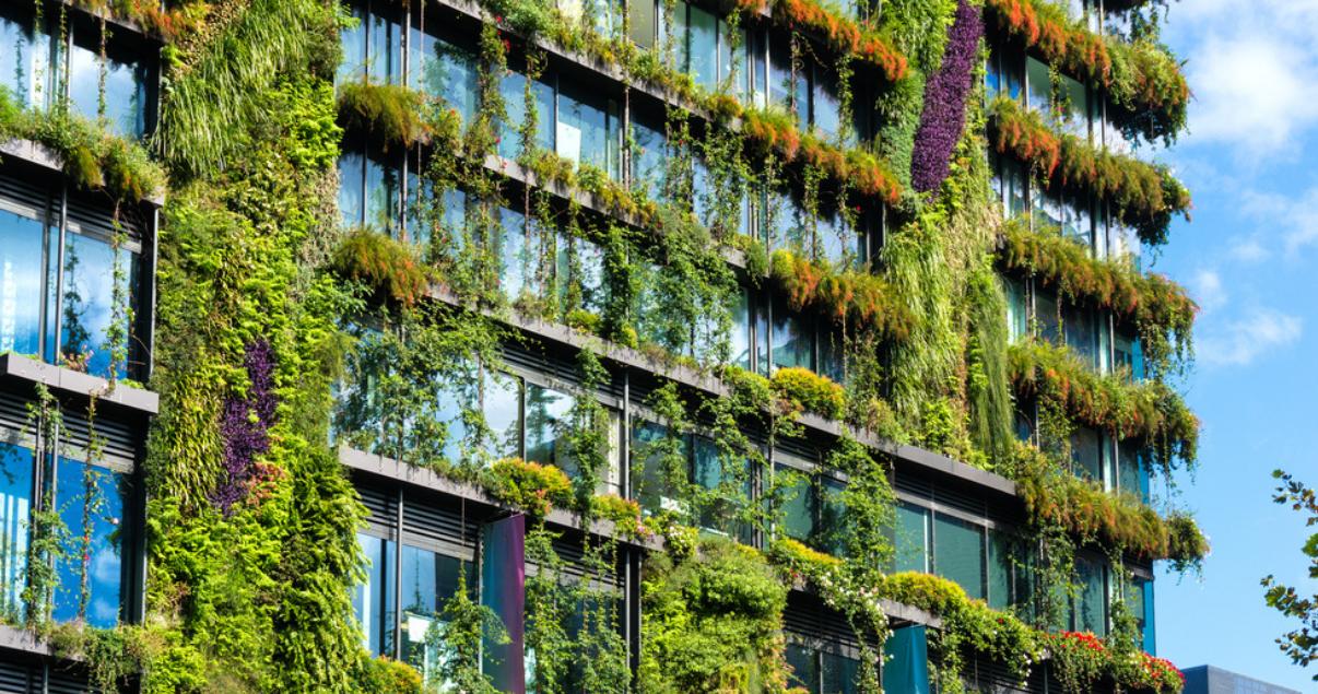 Imagen de edificio donde prima la sustentabilidad inmobiliaria